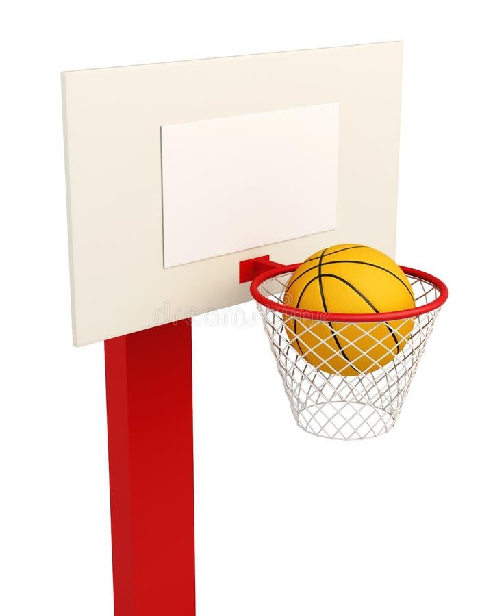 Tablero trasero de baloncesto aislado en el fondo blanco ilustración del vector