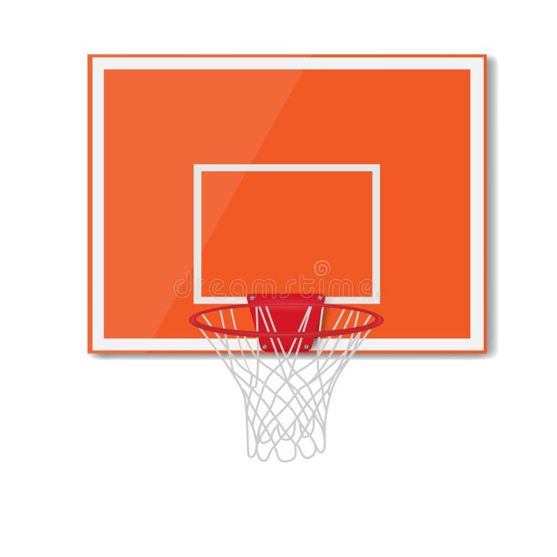 Tablero trasero de baloncesto Ilustración del vector libre illustration