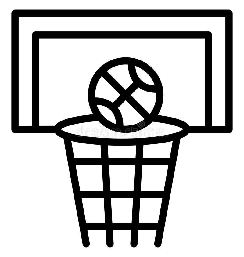 tablero trasero, vector de la meta del baloncesto que puede ser modificado o corregir fácilmente libre illustration