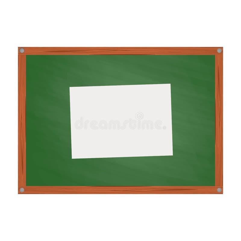 Tablero verde de la escuela en estilo de la historieta libre illustration