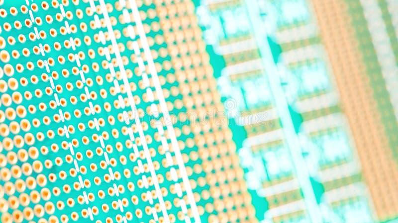 Tablero verde del circuito Tecnología electrónica del hardware Microprocesador digital de la placa madre fotos de archivo