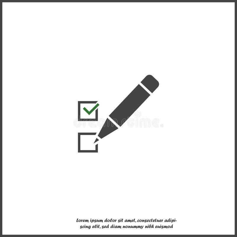 Tablero y lista de control del vector con las marcas de cotejo Tableta del negocio con un formulario de inscripci?n terminado en  libre illustration