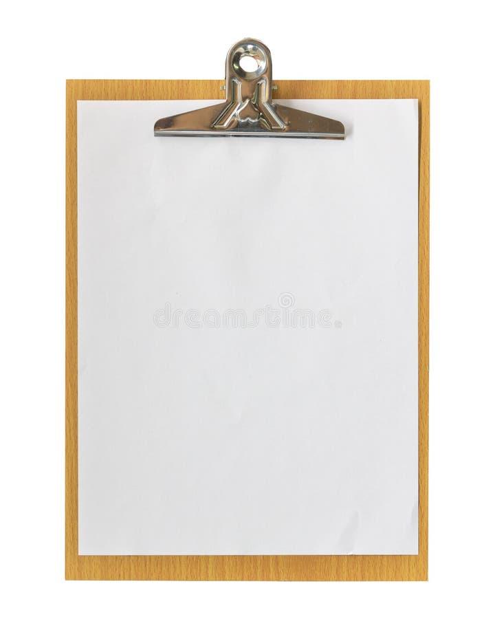 Tablero y papel de madera con la trayectoria de recortes fotos de archivo
