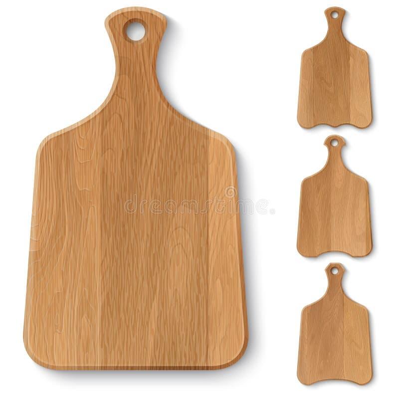 Tableros de madera de la cocina ilustración del vector