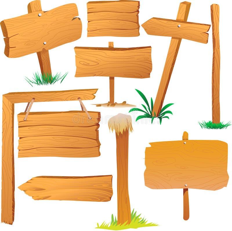 Tableros de madera de la muestra stock de ilustración