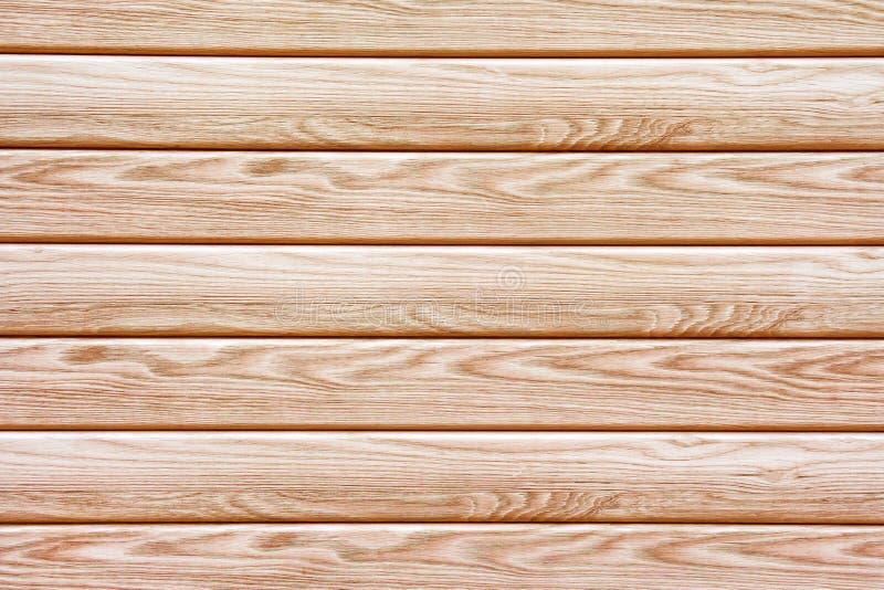Tableros de madera marrones horizontales como textura, cierre del fondo para arriba imagenes de archivo