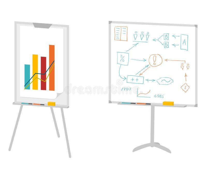 Tableros para la presentación stock de ilustración