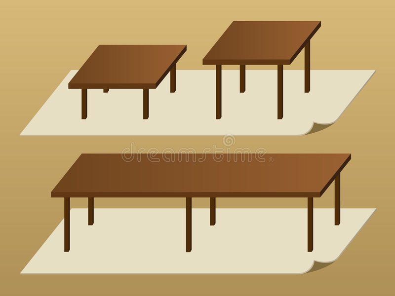 tables illustration de vecteur