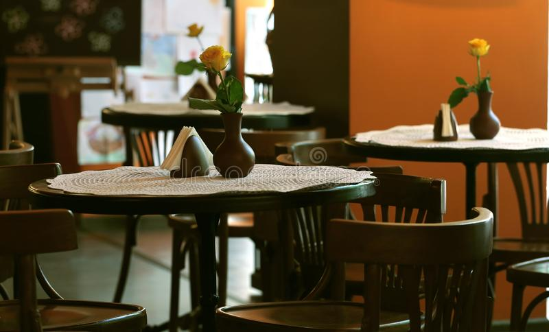 Download Tables in the cafe stock photo. Image of europe, dinner - 34424588