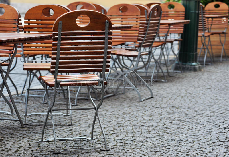 Download Tables and Chairs stock photo. Image of cafe, cobblestone - 18522318