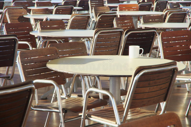 Download Tables, Chairs And A Coffee Cup Stock Image - Image: 26335277