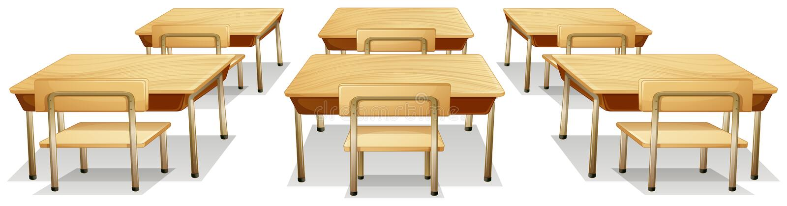 Tables and chairs. Illustration of tables and chairs stock illustration
