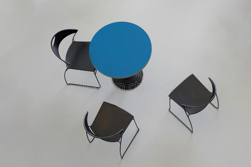 Tables with chairs royalty free stock photos