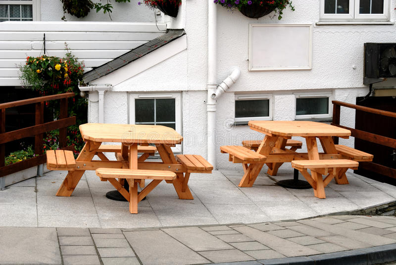 Tables In Cornwall Royalty Free Stock Images