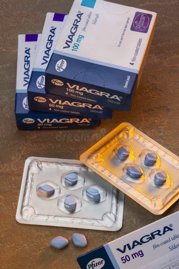Tables de Viagra - dysfonctionnement érectile image libre de droits