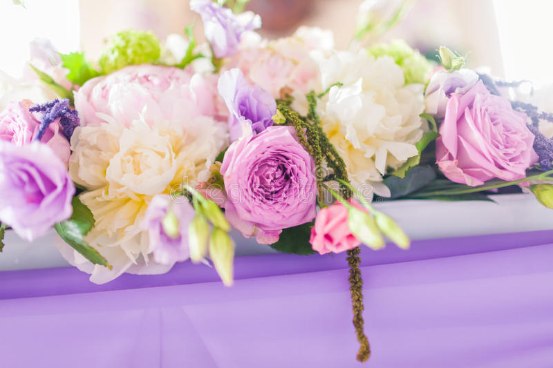 Download Tables Decorated With Flowers Stock Photo - Image of design, fancy: 34307184