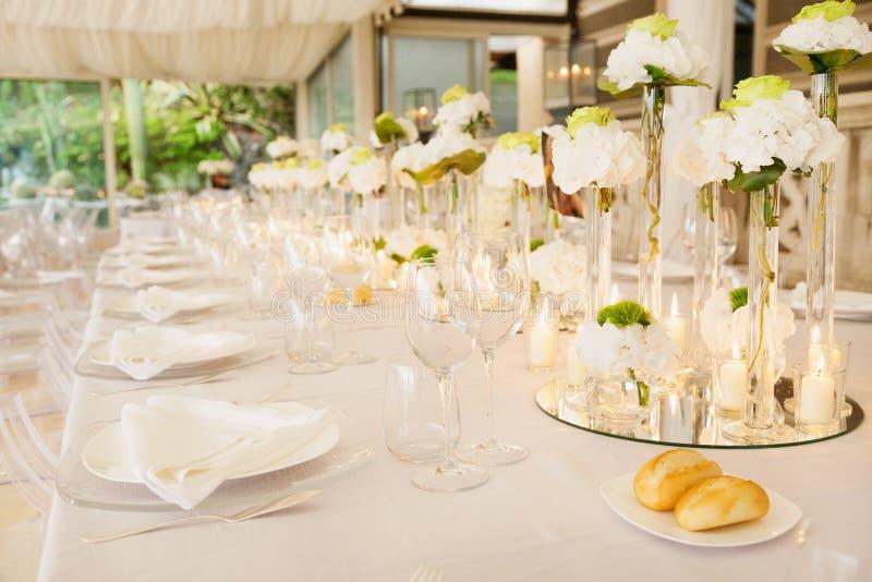 Wedding reception tables royalty free stock photos
