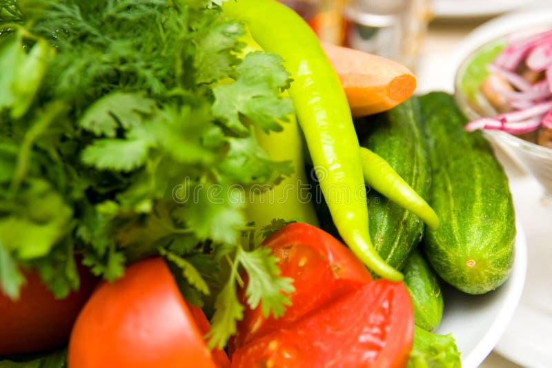 Tables Grönsaker Royaltyfria Bilder