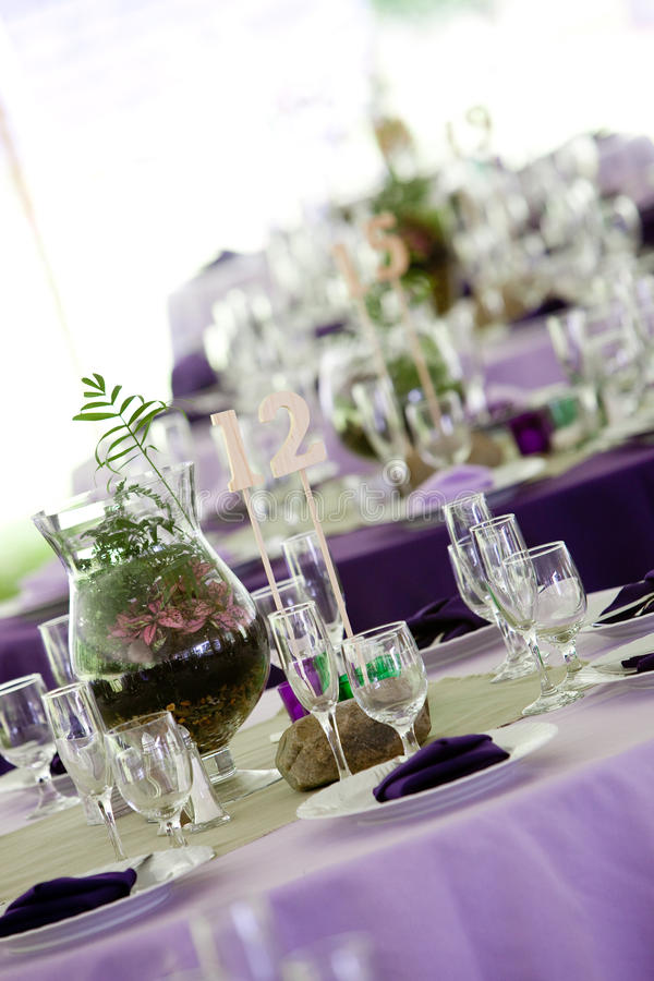 Download Tables in Green and Purple stock image. Image of linen - 24077077