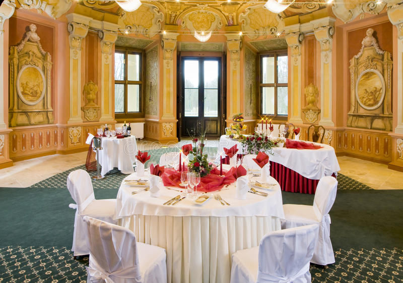 Download Tables Set For A Festive Dinner Stock Image - Image: 9751471