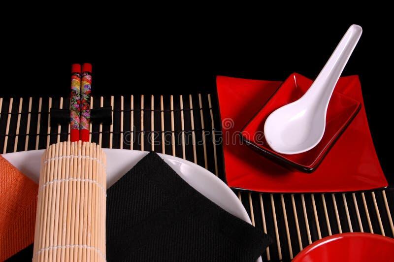 Tablescape asiatique 1 images libres de droits
