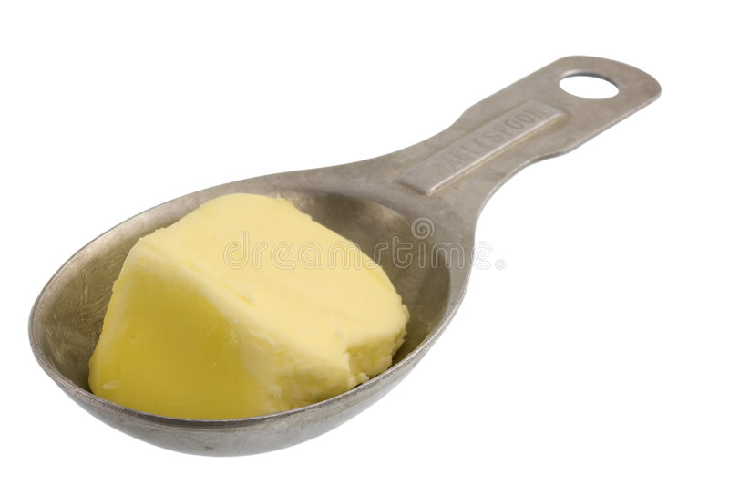 Tablespoon of butter royalty free stock photos