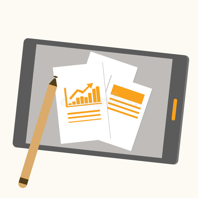 Tablet royalty-vrije illustratie