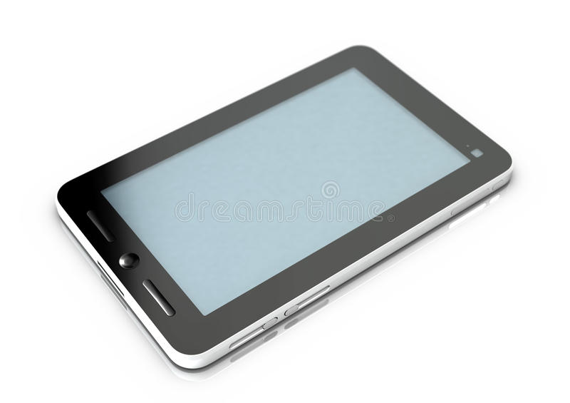 Tablet with 7 inch screen. Tablet computer with gray screen