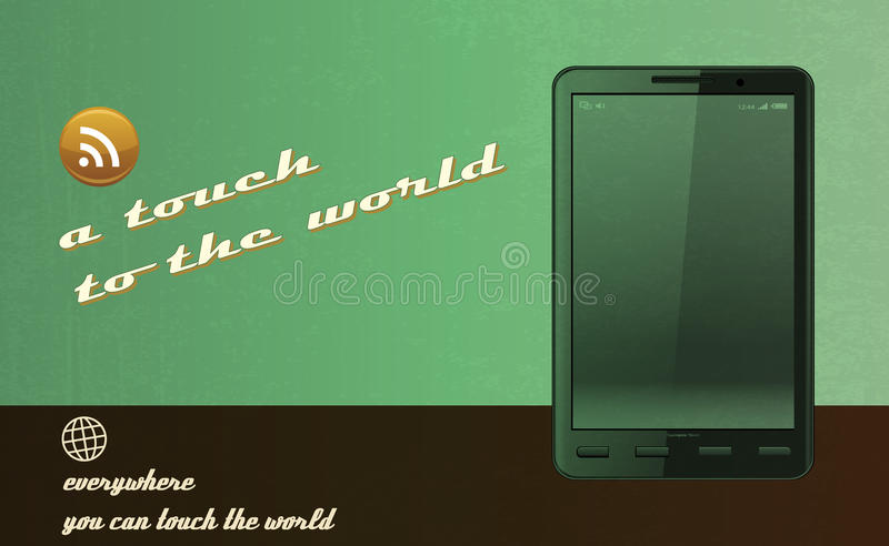 Download Tablet Advertising Vintage And Retro Concept Stock Illustration - Image: 25613268
