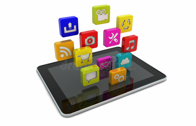 Download Tablet Apps Royalty Free Stock Images - Image: 27518479