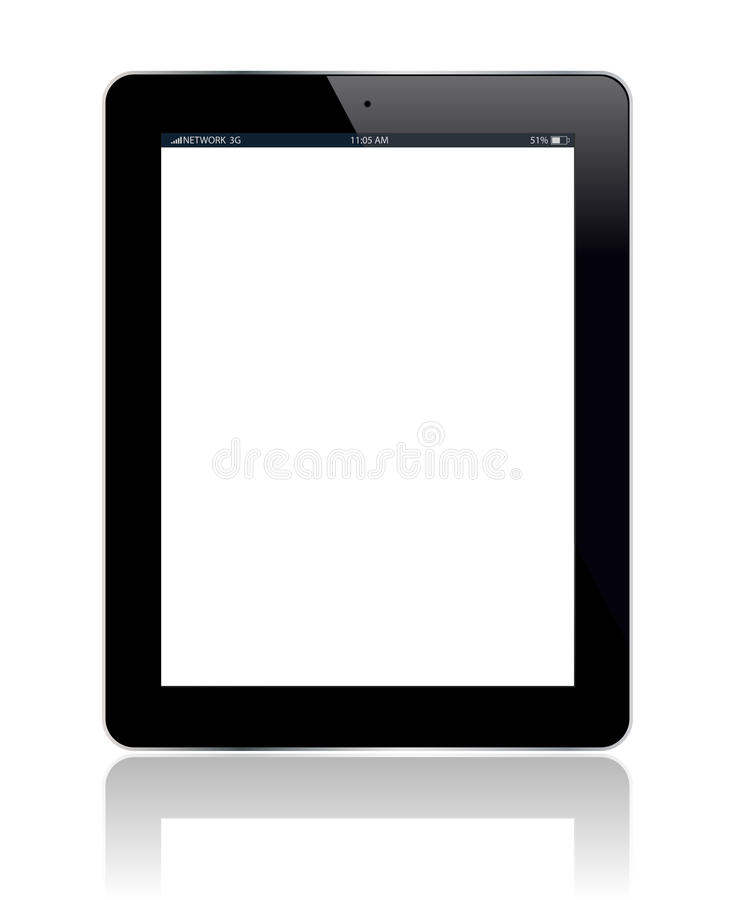 Download Tablet Blank stock vector. Image of blank, isolated, display - 26385167
