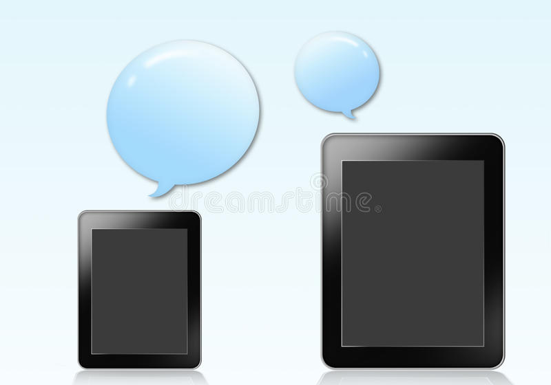 Download Tablet With Blue Bubble Stock Image - Image: 26747351
