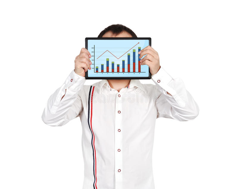 Download Tablet with chart stock image. Image of chart, graphic - 31863949