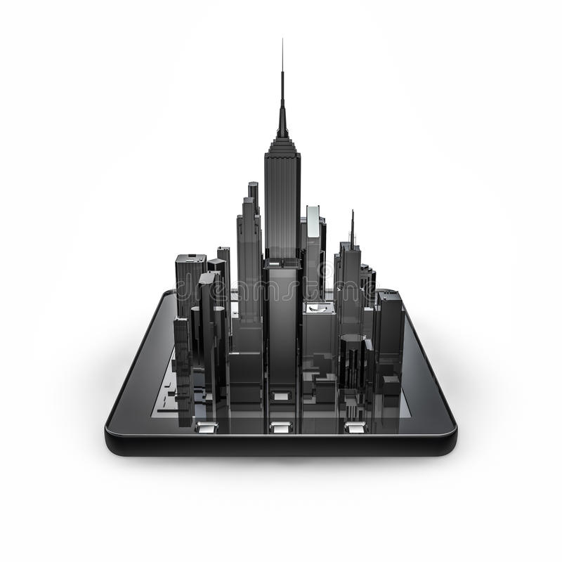 Download Tablet City Stock Photography - Image: 34404362