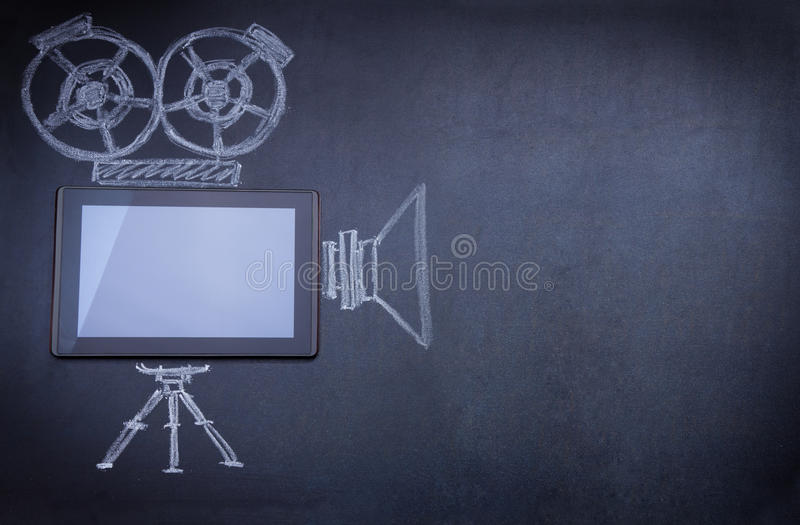 Download Tablet Computer As Movie Camera Royalty Free Stock Image - Image: 22228456
