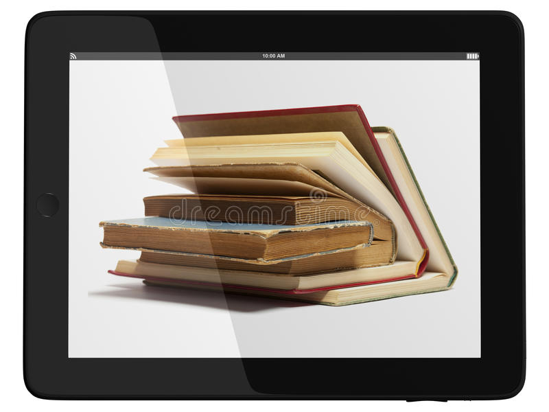 Download Tablet Computer And Book - Digital Library Concept Stock Image - Image: 20388259