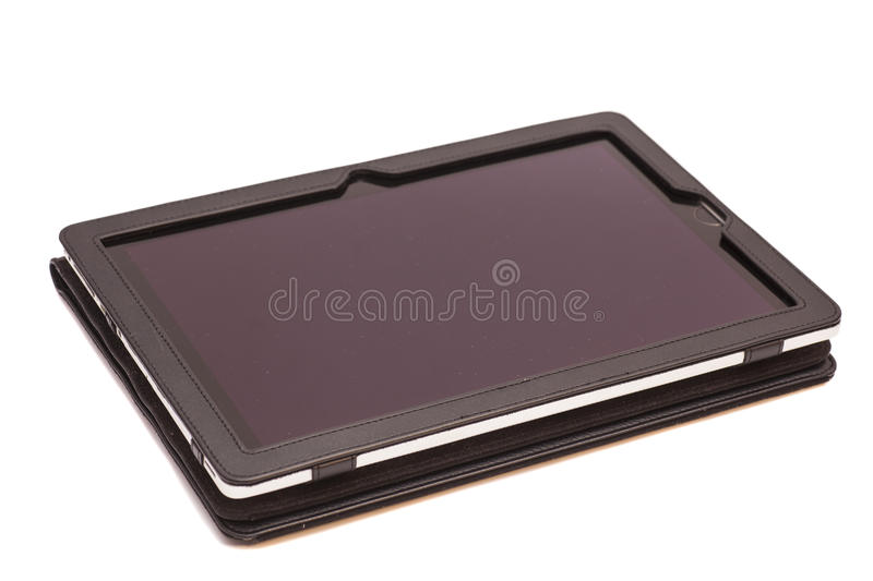 Tablet computer in cover royalty free stock photography