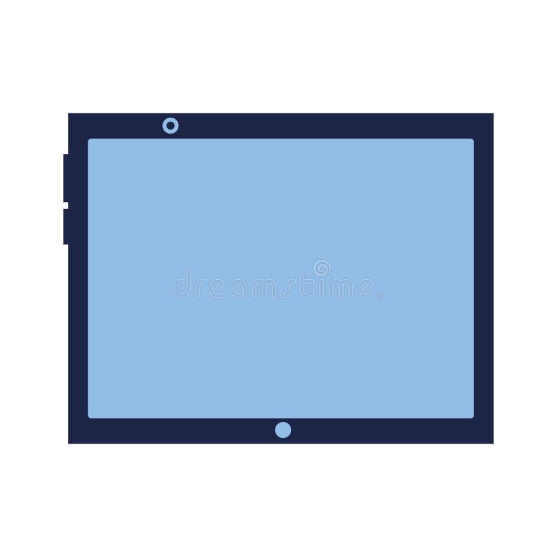 Tablet-Computer-Gerät auf weißem Hintergrund vektor abbildung