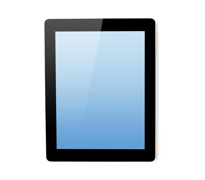 Tablet computer isolated royalty free stock photo