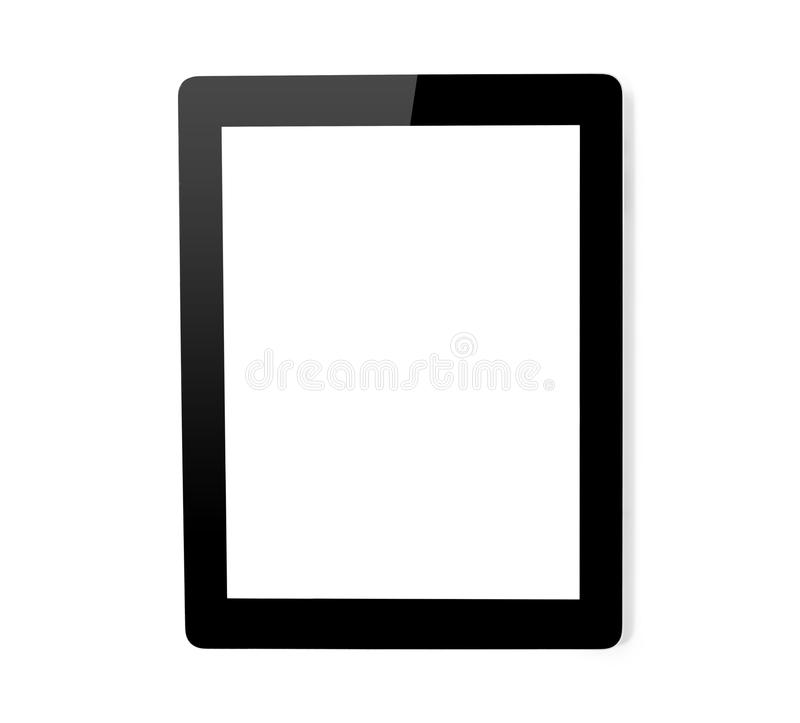 Tablet computer isolated royalty free stock images