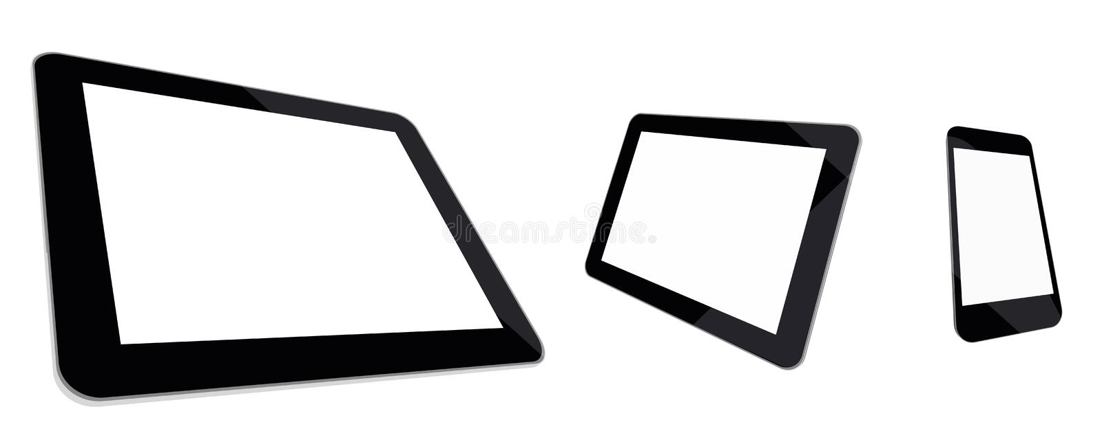 Download Tablet Computer, Mini Tablet And Smartphone Blank Stock Vector - Image: 40312278