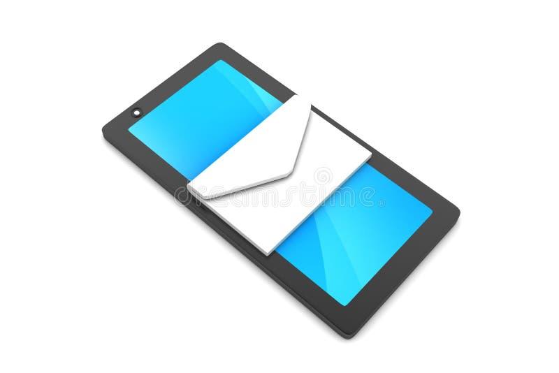 Tablet-Computer mit E-Mail stock abbildung