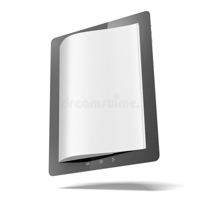 Download Tablet computer with pages stock illustration. Image of library - 28993671