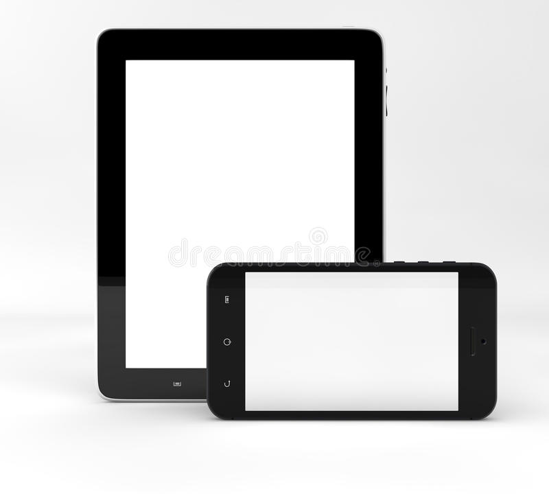 Tablet computer and phone royalty free illustration