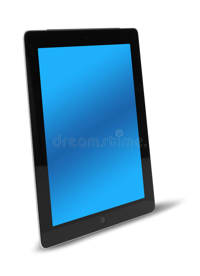 Tablet Computer Side View Isolated Royalty Free Stock Photography
