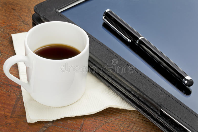 Download Tablet Computer, Stylus And Coffee Royalty Free Stock Photo - Image: 23246185