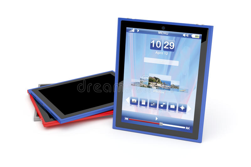Tablet computers stock illustration