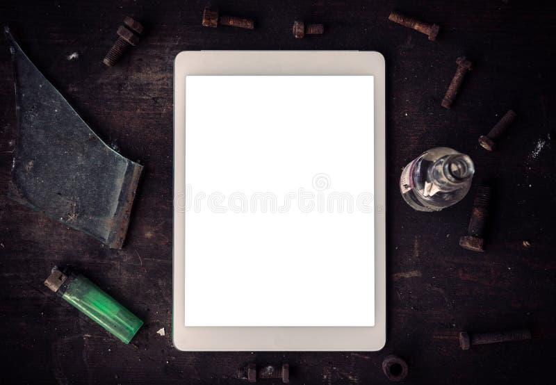 Tablet des leeren Bildschirms stockbilder