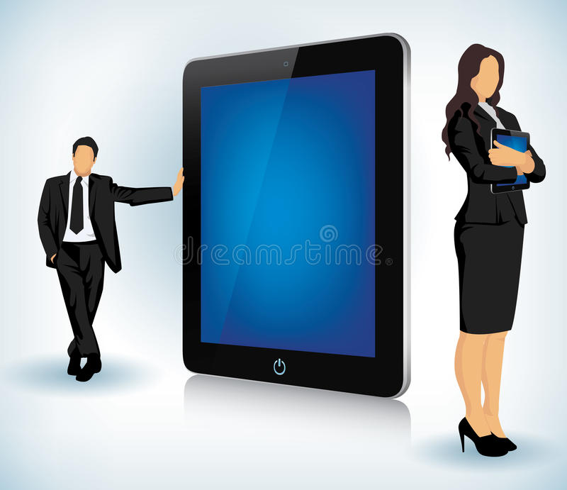 Download Tablet Device With Business People Stock Vector - Image: 22682845