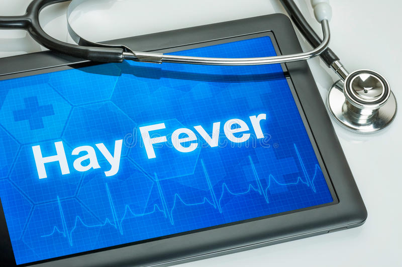 Download Tablet With The Diagnosis Hay Fever Stock Image - Image of blue, laptop: 39506023